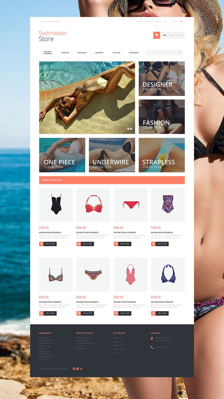 Gorgeous Swimwear Magento Theme New Screenshots BIG