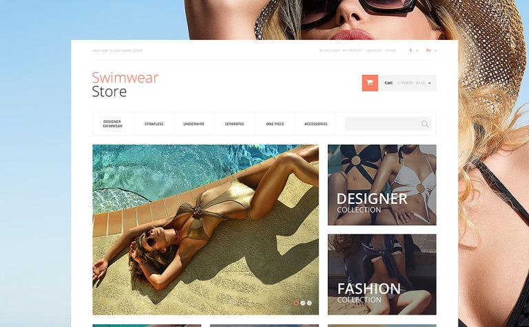 Gorgeous Swimwear Magento Theme