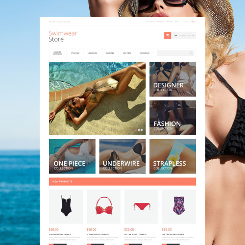 Swimwear Store - Magento Template based on Bootstrap