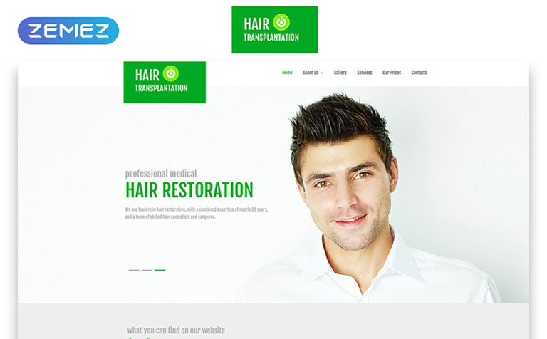 hair transplant clinic web template