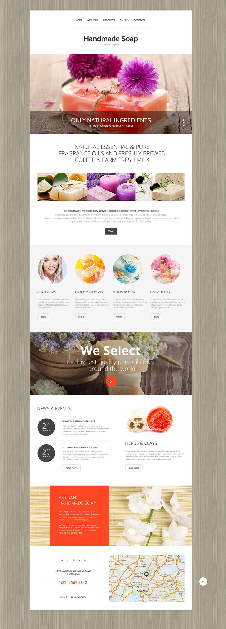 Handmade Soap Website Template New Screenshots BIG