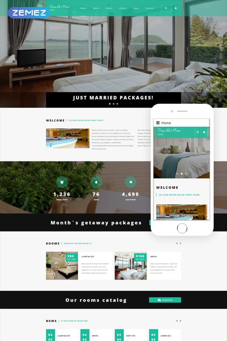 Hotel Suite Joomla Template New Screenshots BIG