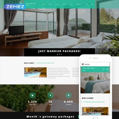 Joomla hotel templates template monster for Joomla hotel template