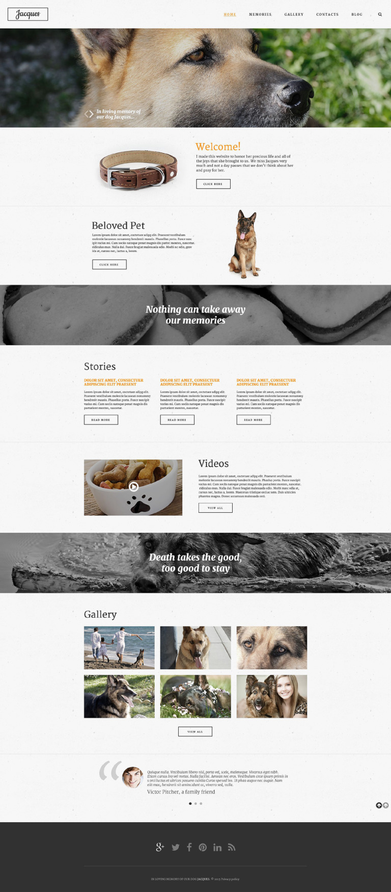 In Loving Memory Website Template New Screenshots BIG