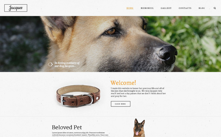 In Loving Memory Website Template