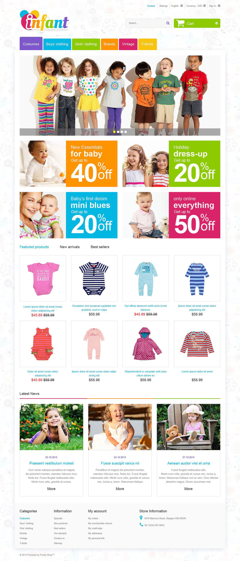 Infant PrestaShop Theme New Screenshots BIG
