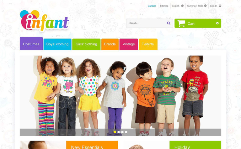 Infant PrestaShop Theme