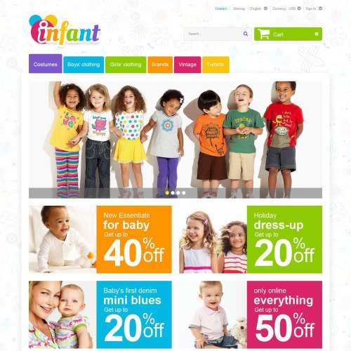 Infant - PrestaShop Template based on Bootstrap