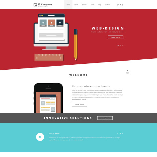 IT Company - WordPress Template based on Bootstrap