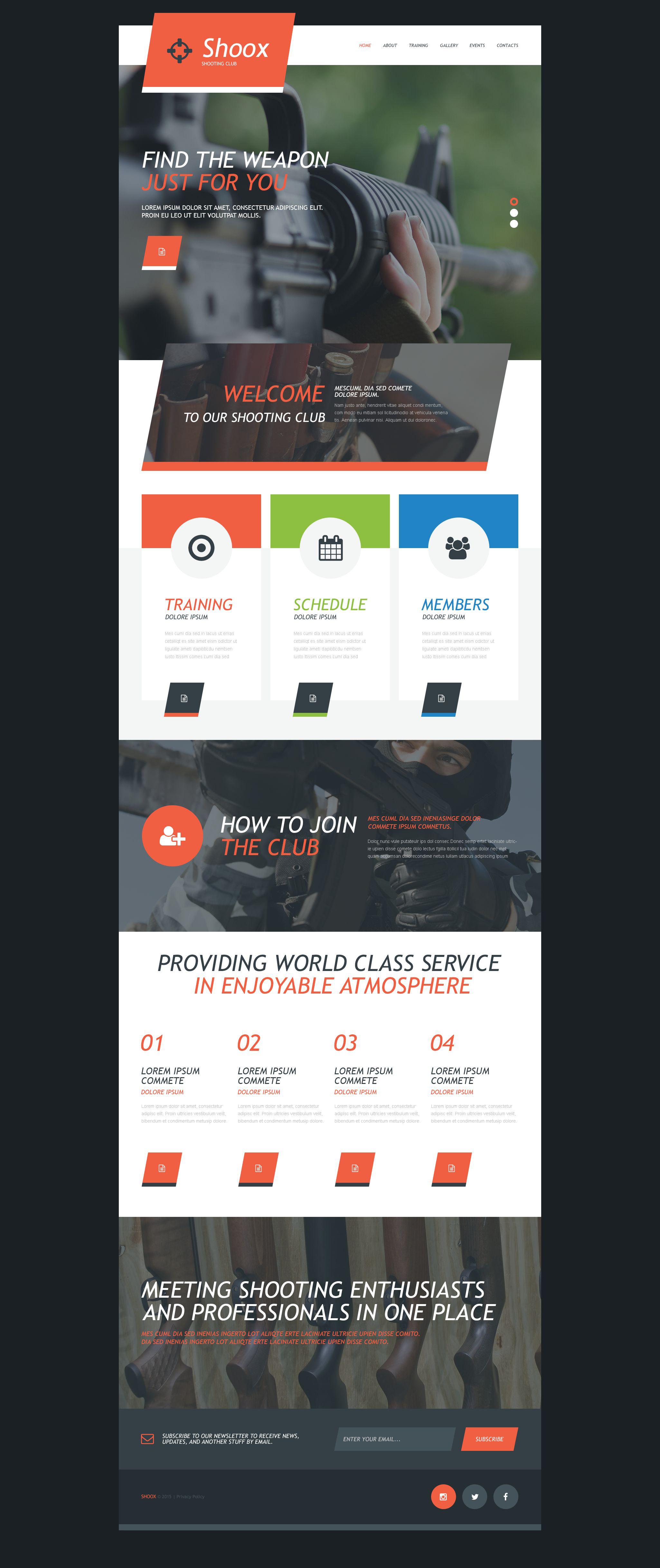 军品店网站Muse 模板 #55210