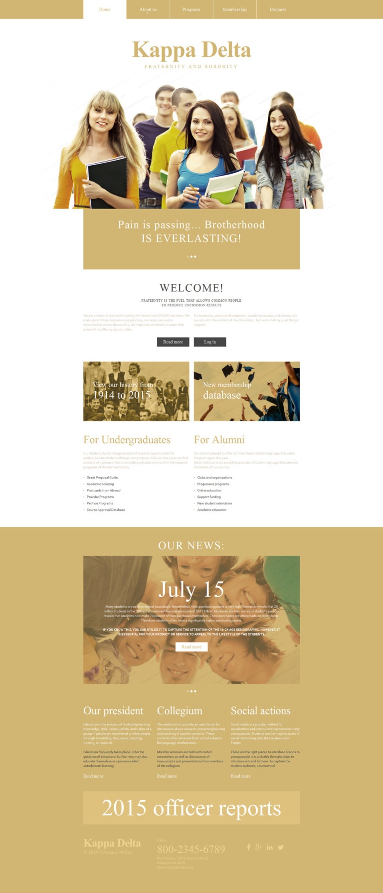 Kappa Delta Website Template New Screenshots BIG