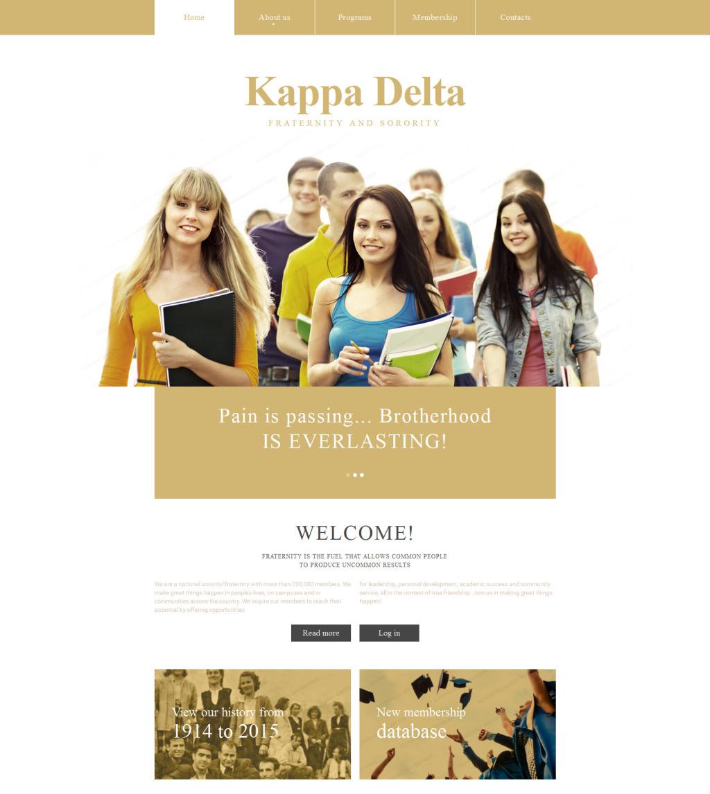 fraternity website template. Black Bedroom Furniture Sets. Home Design Ideas