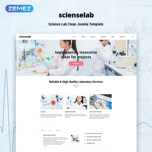 Science Lab - Joomla! Template based on Bootstrap