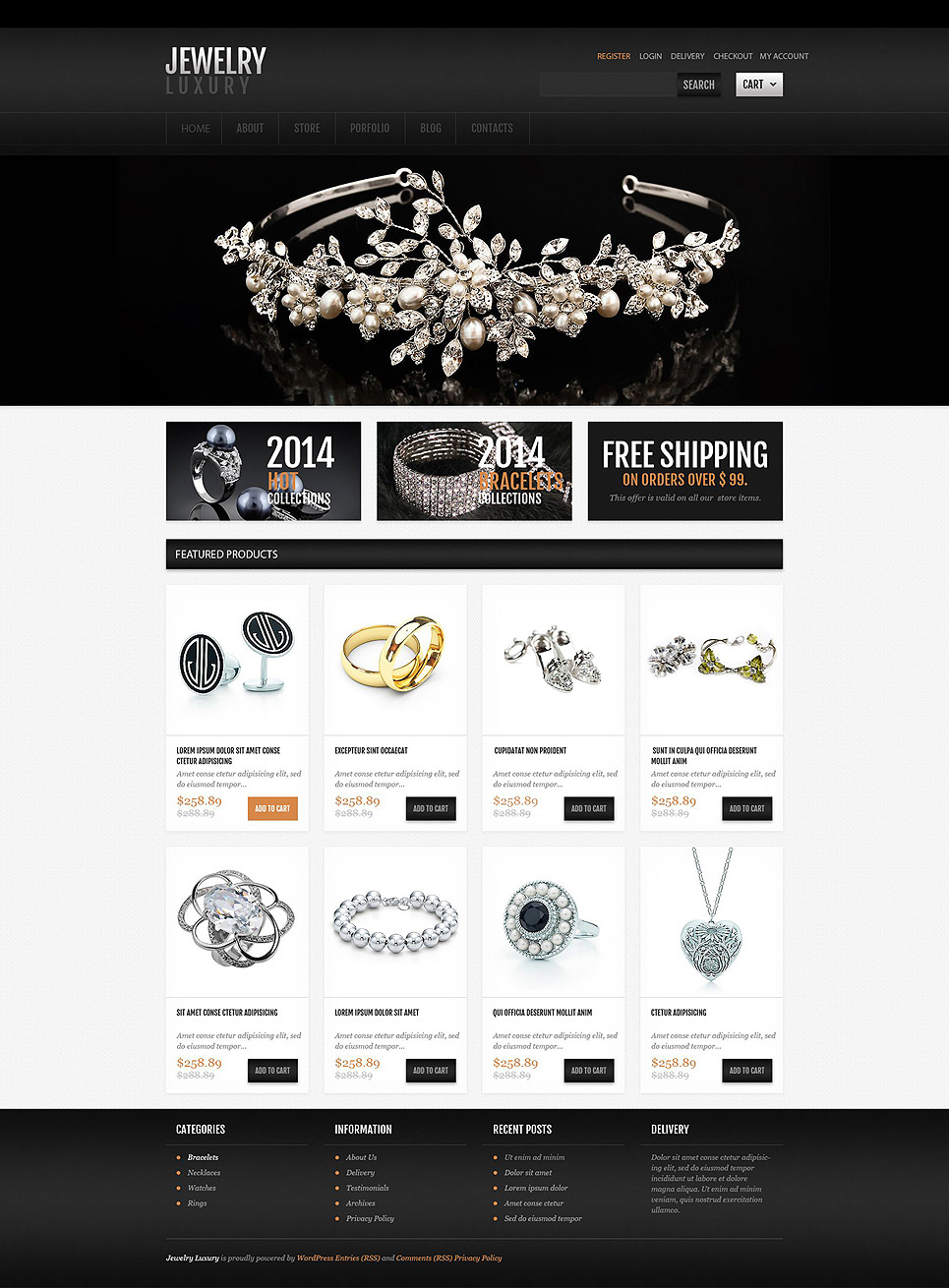 Luxury Jewelry OsCommerce Template New Screenshots BIG