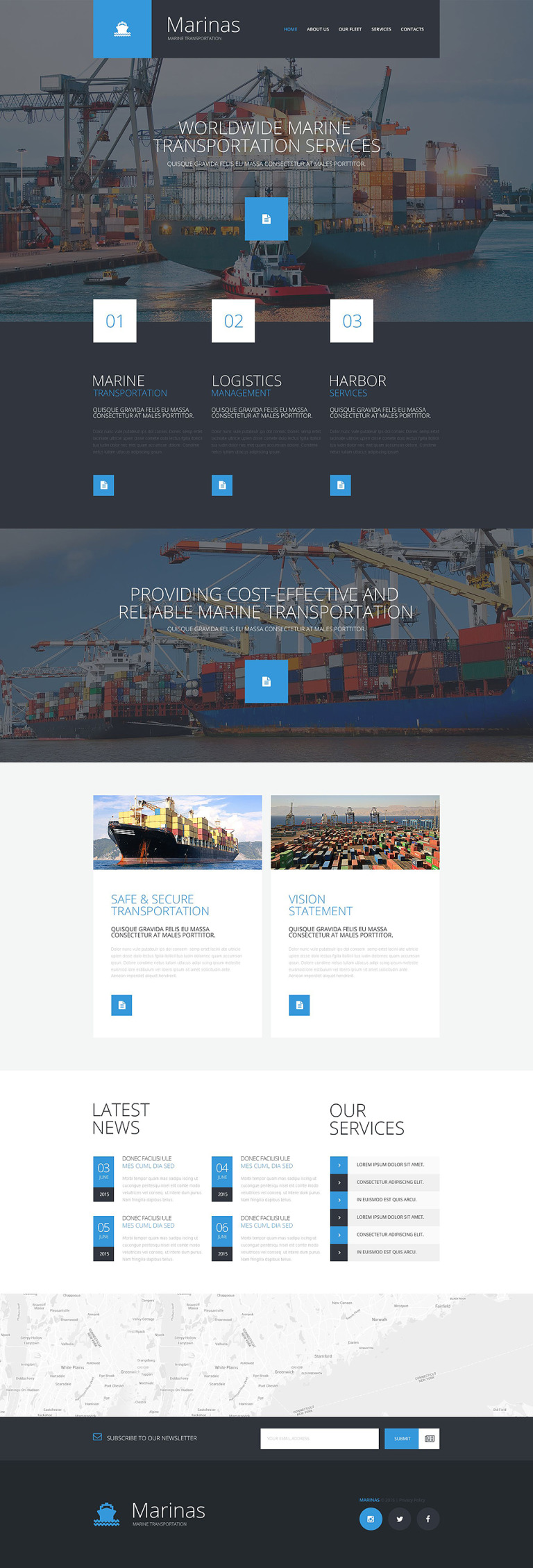 Maritime Responsive Website Template New Screenshots BIG