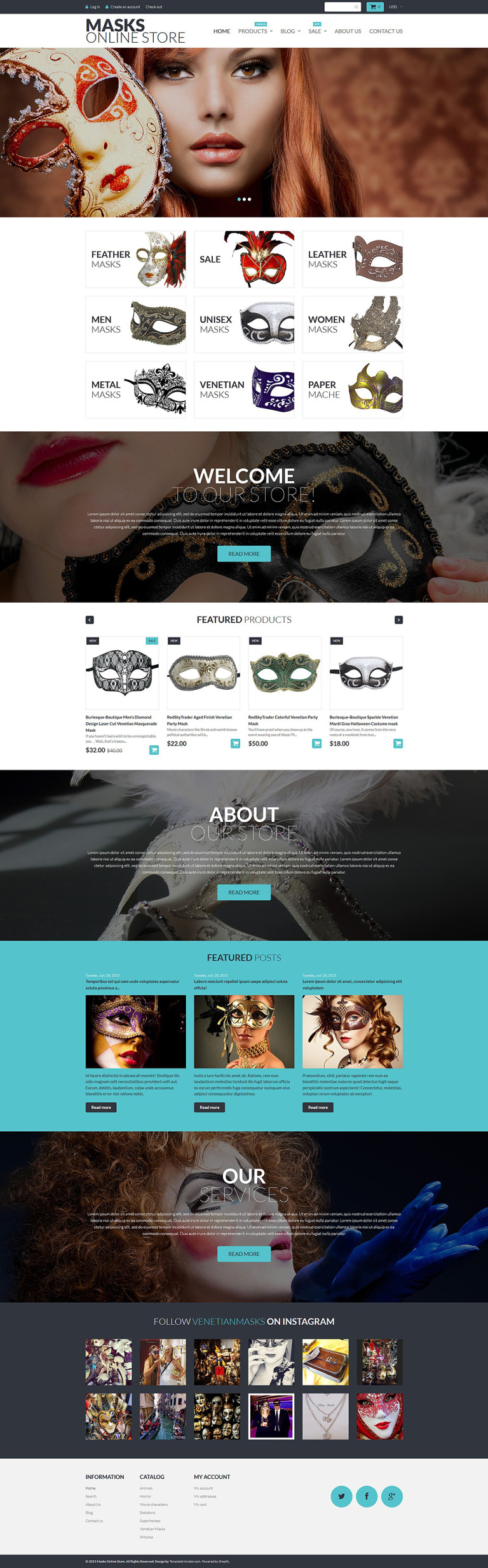 Masks Online Store Shopify Theme New Screenshots BIG