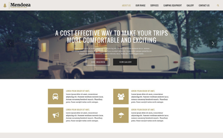 Mendoza Website Template