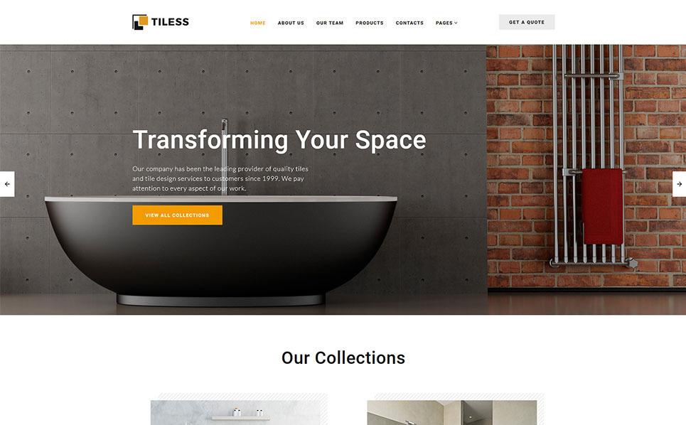 Template siti web 55295 per un sito di design di interni for Siti design interni