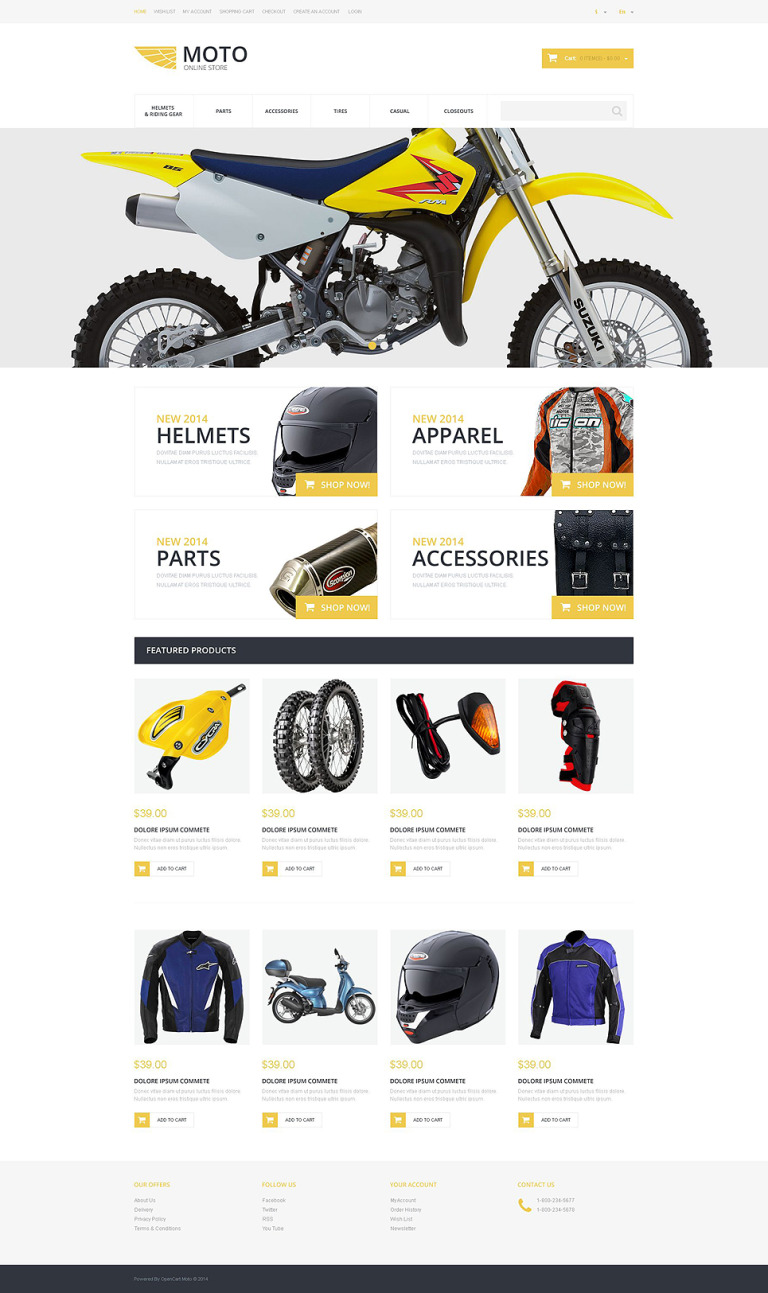 Moto Online Store OsCommerce Template New Screenshots BIG