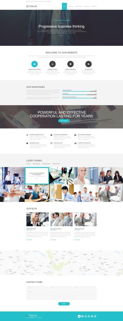 Muse Template für Business und Dienstleistungen