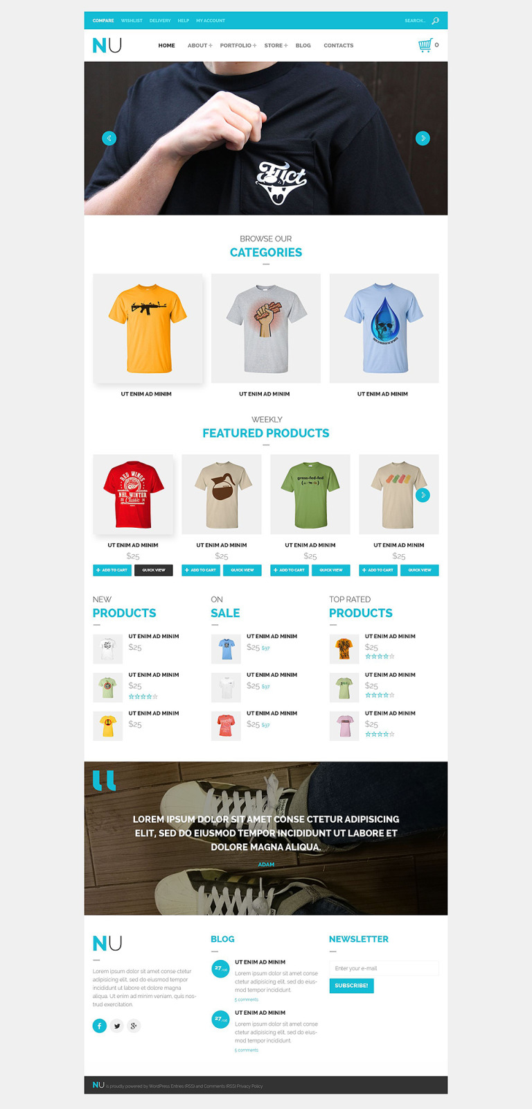 NU T-Shirts WooCommerce Theme New Screenshots BIG