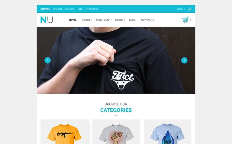NU T-Shirts WooCommerce Theme