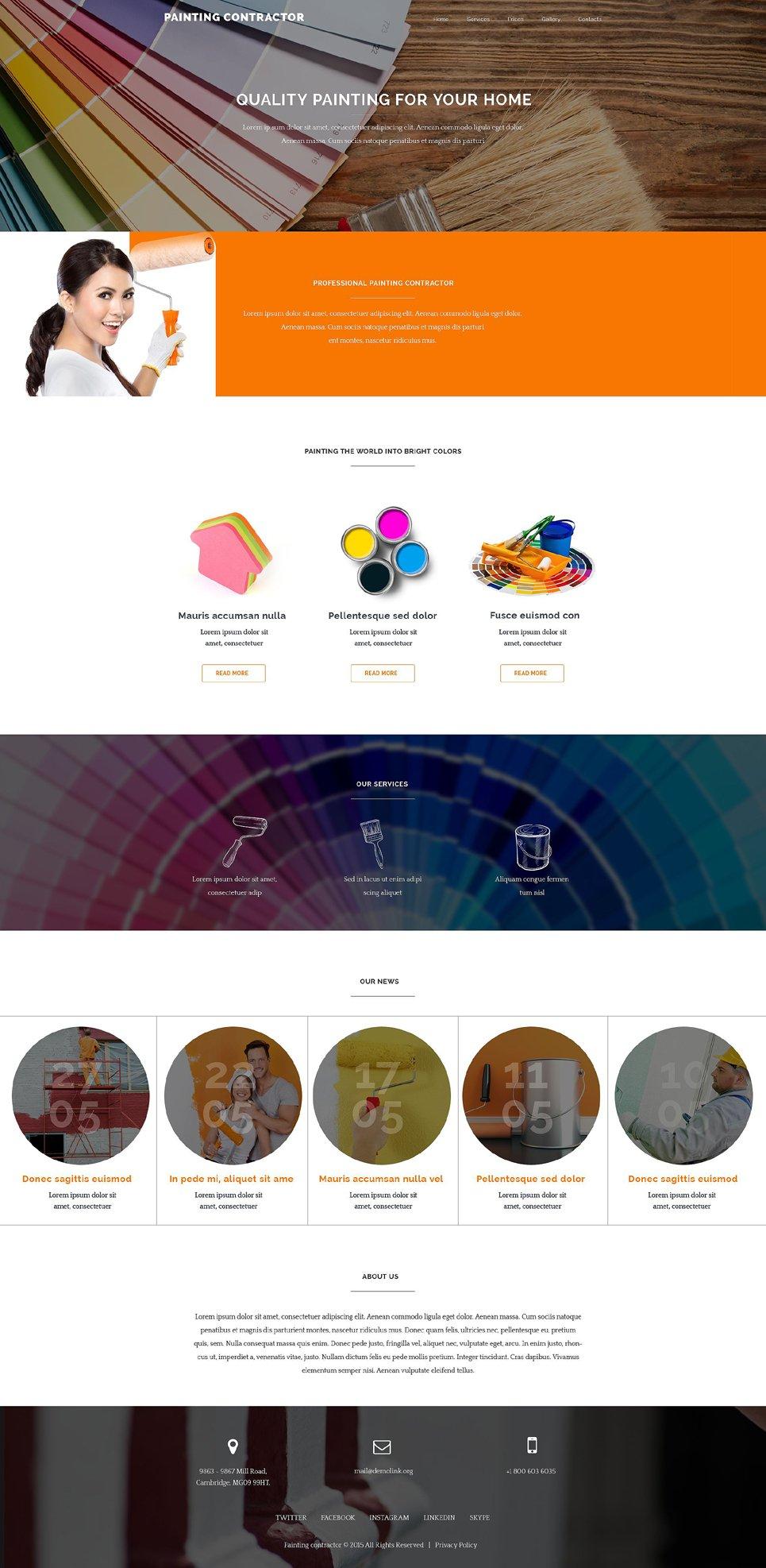 Painter Web Template