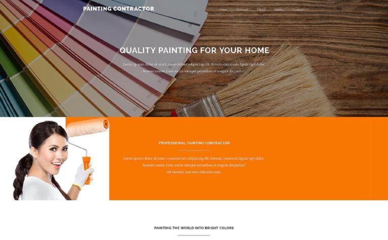 Painting Contractor Website Template