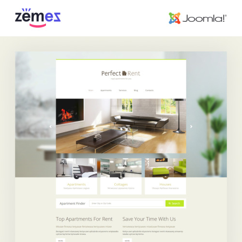 Perfect Rent - Joomla! Template based on Bootstrap