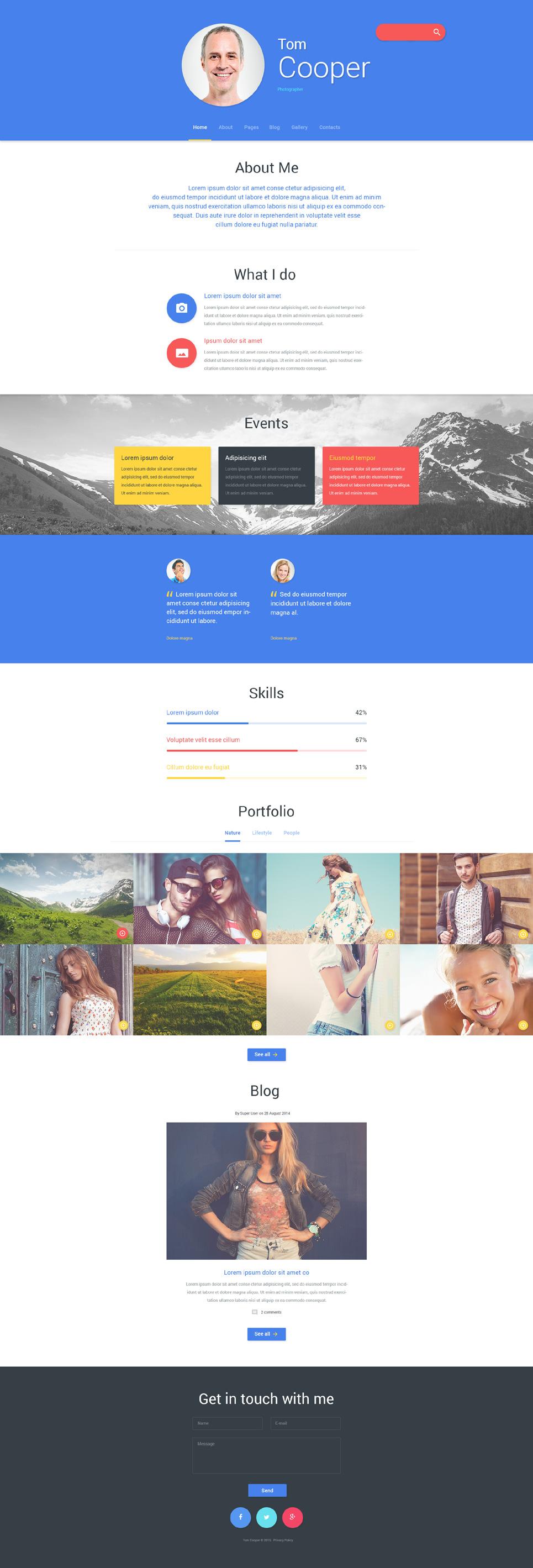 personal profile templates