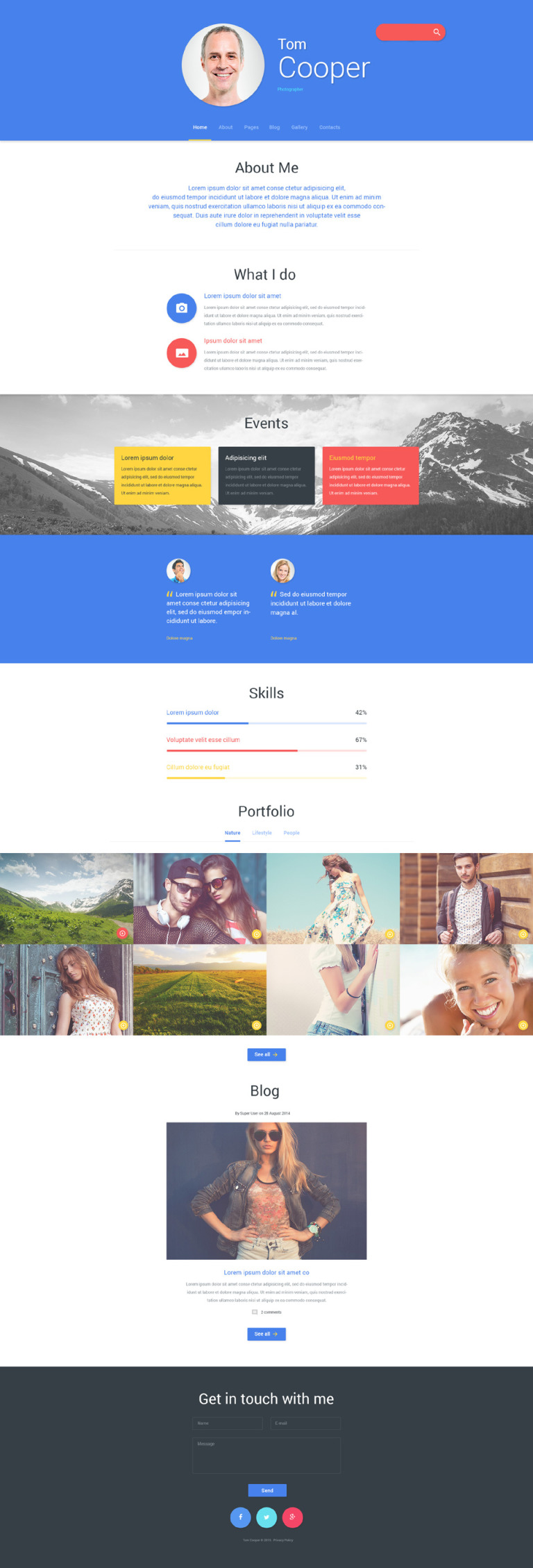 Personal Profile Joomla Template New Screenshots BIG