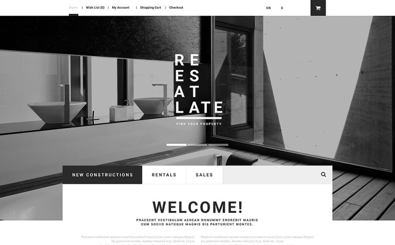 Plantilla OpenCart #55257 para Sitio de Agencias inmobiliarias