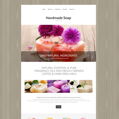 Responsive Plantilla Web #55291 para Sitio de  para Sitio de Artesanías
