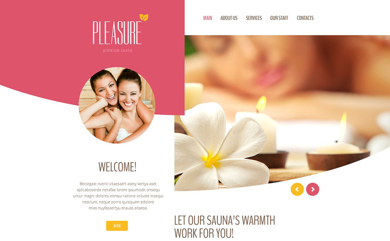 Pleasure Website Template