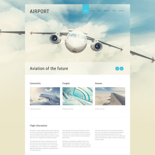 Airport - Joomla! Template based on Bootstrap