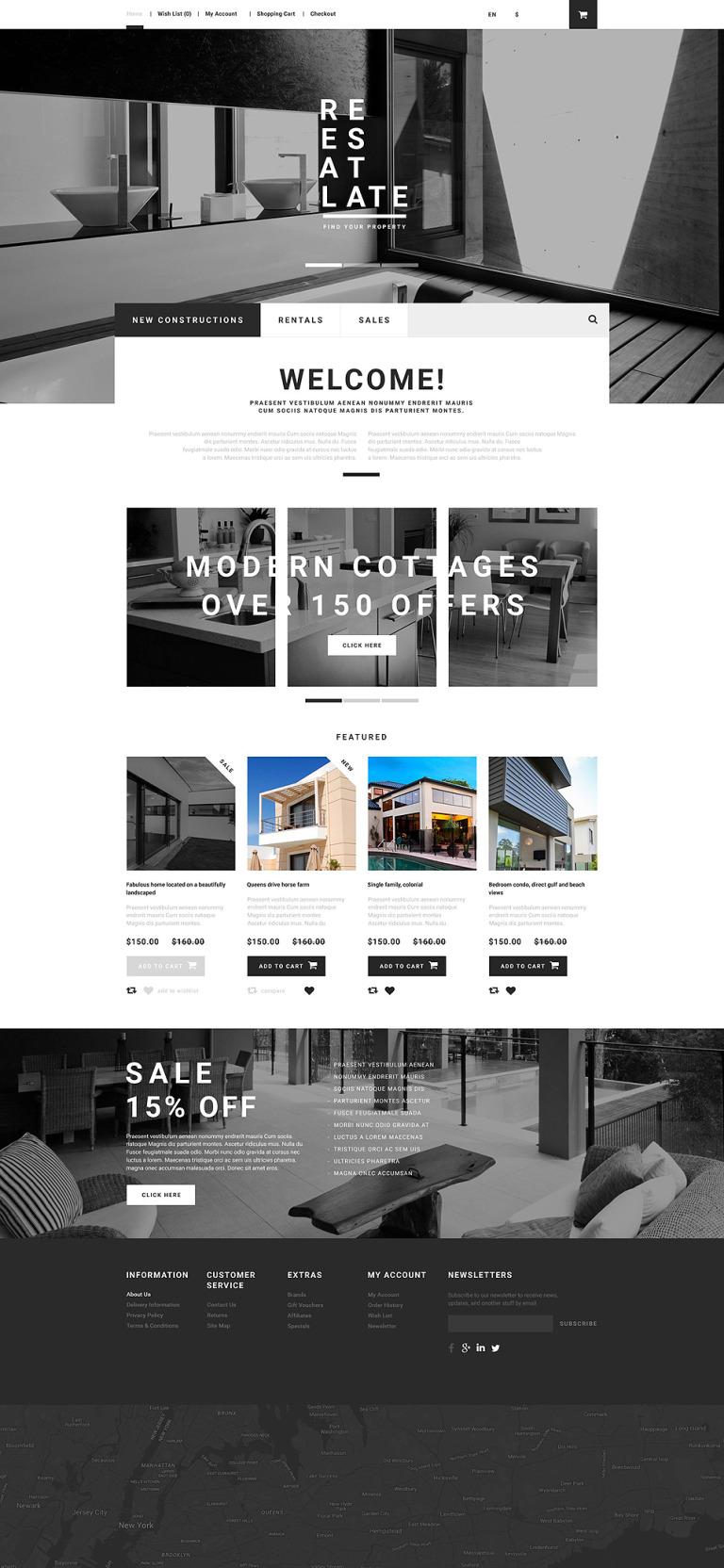 Real Estate OpenCart Template New Screenshots BIG