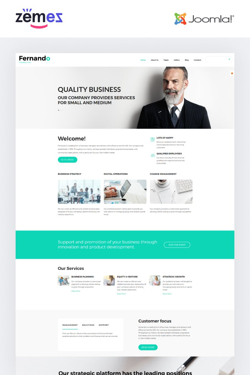 Responsive Fernando - Consulting Ready-to-Use Modern Joomla #55249