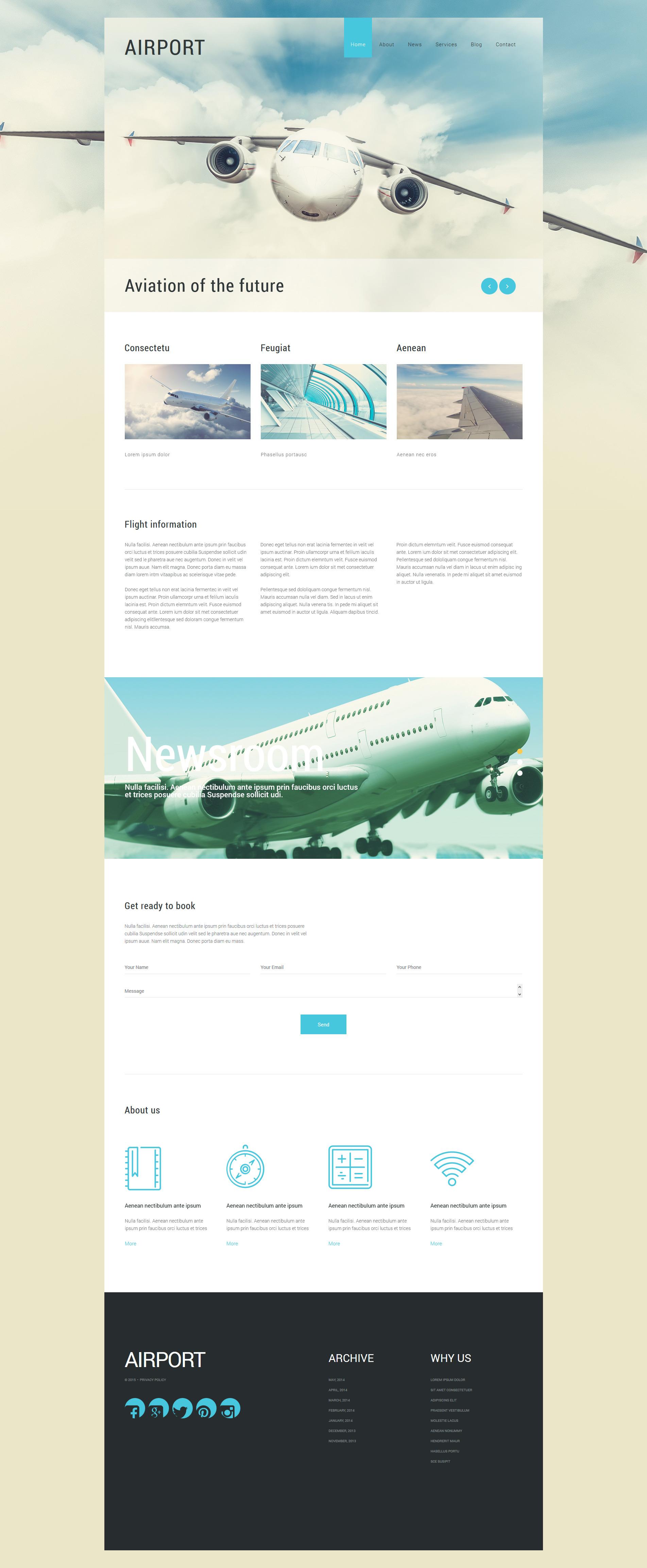 Responsive Private Airline Joomla #55272