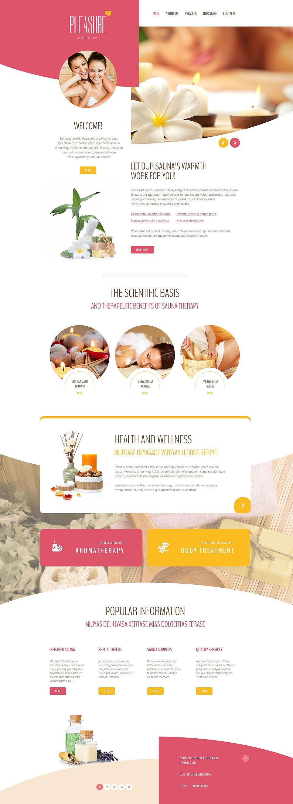 Website Vorlage #55244 für Sauna