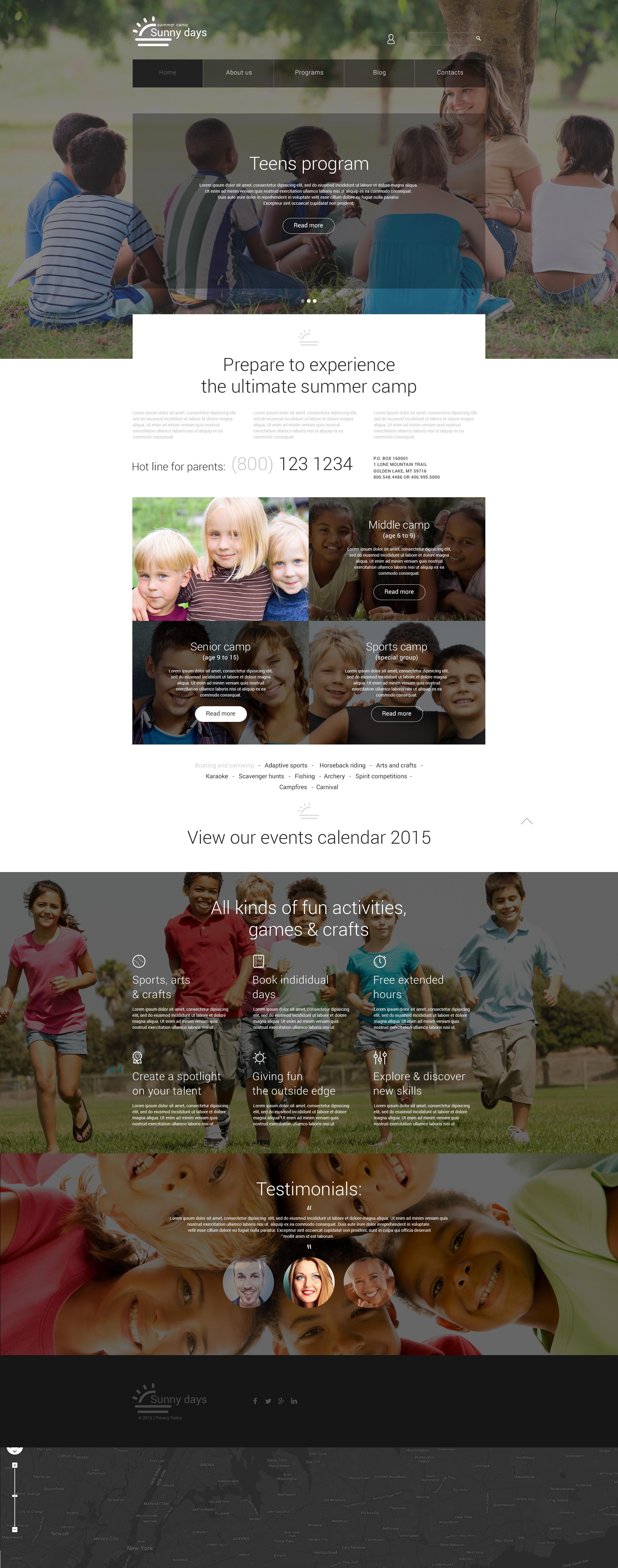 Responsive Yaz Kampı Joomla #55287 - Ekran resmi