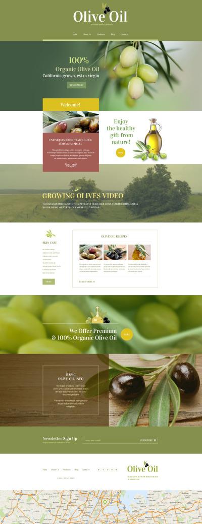 Responsive Yiyecek Mağazası  Wordpress Teması #55218