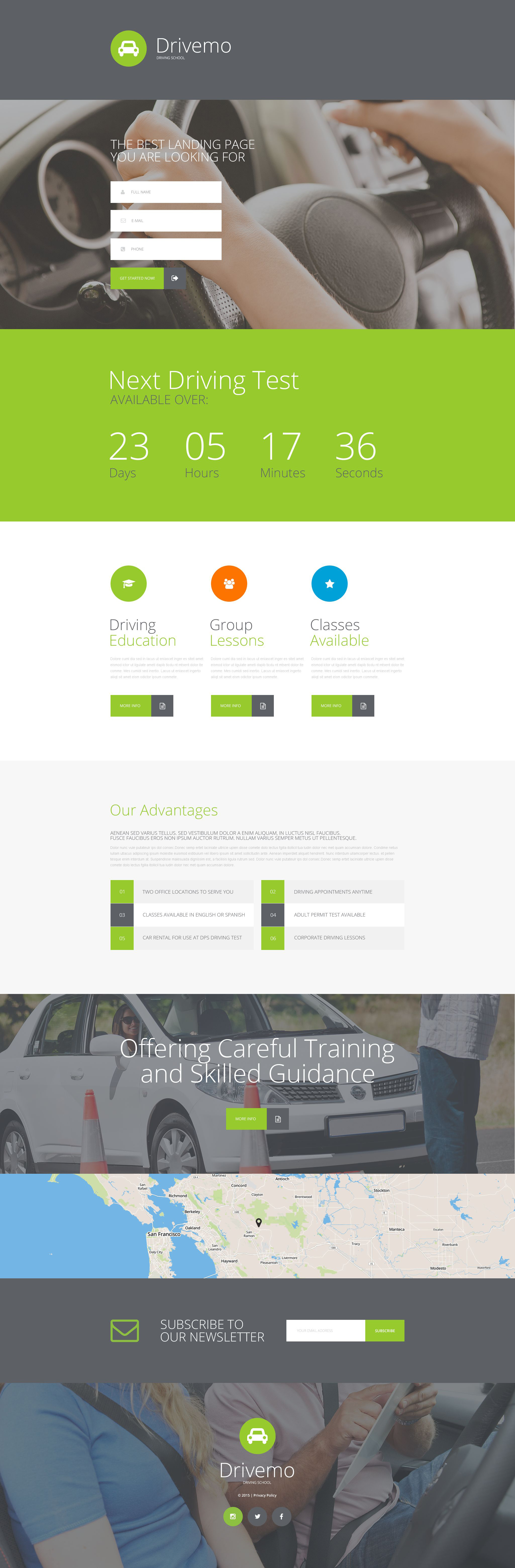 Responsywny szablon Landing Page #55207 na temat: szkoła jazdy