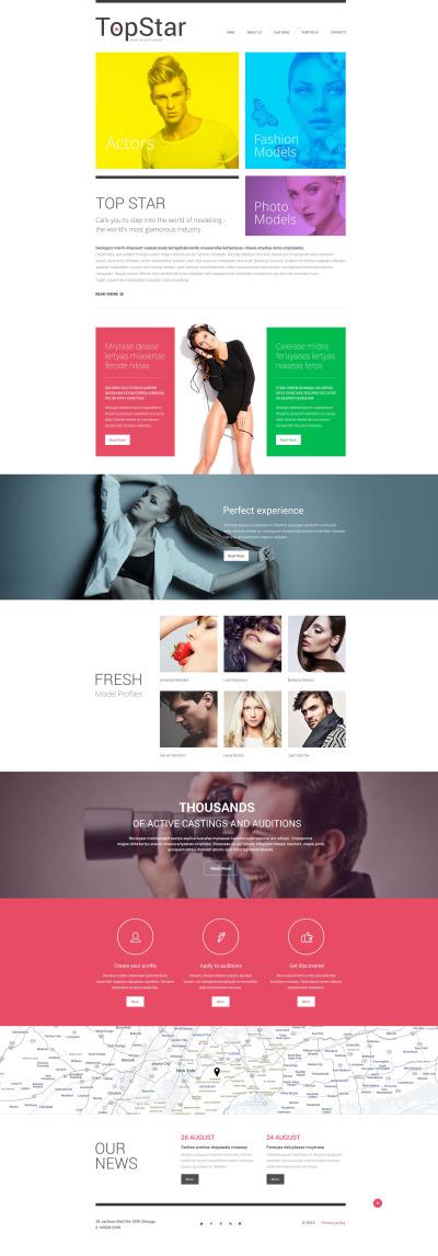 Responsywny szablon strony www #55276 na temat: agencja modelek