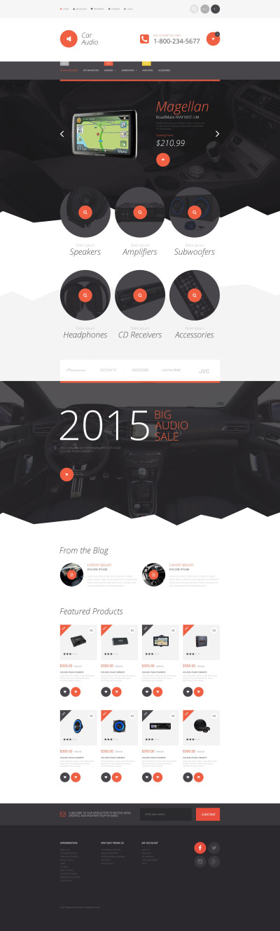 Car Audio Responsive Magento Motiv