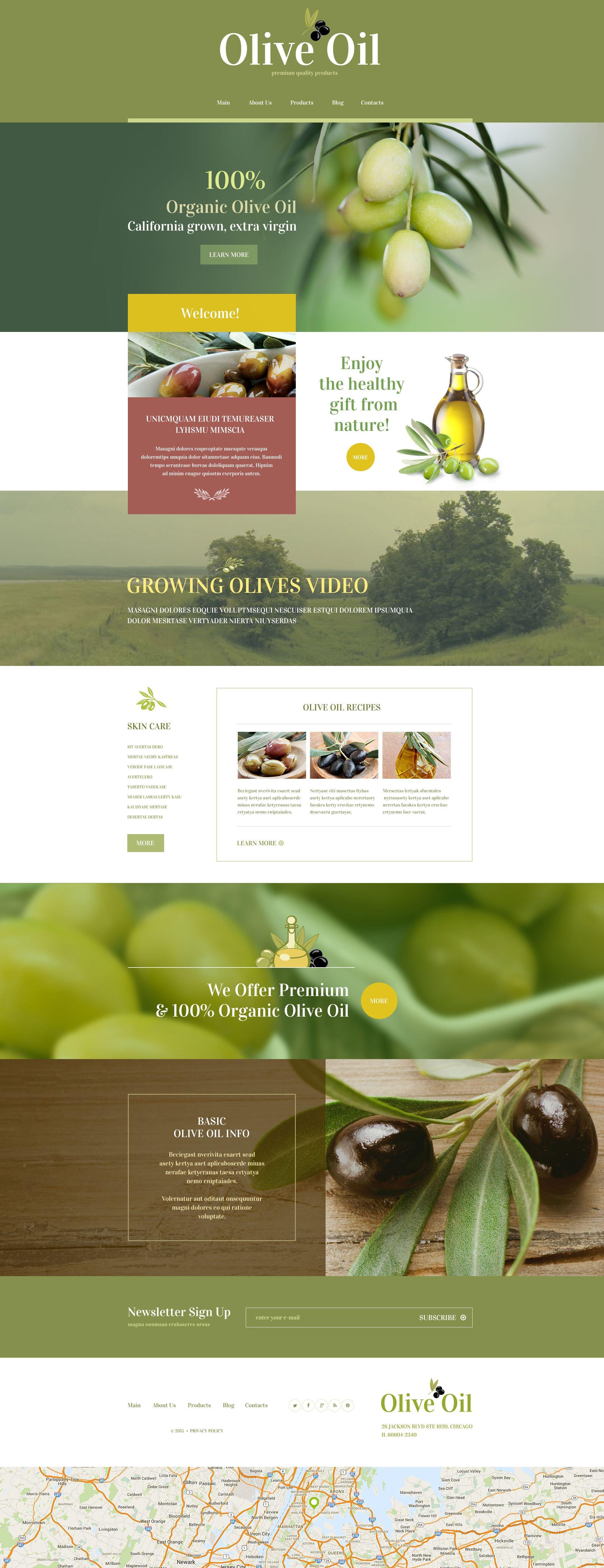 Reszponzív Food Store WordPress sablon 55218 - képernyőkép