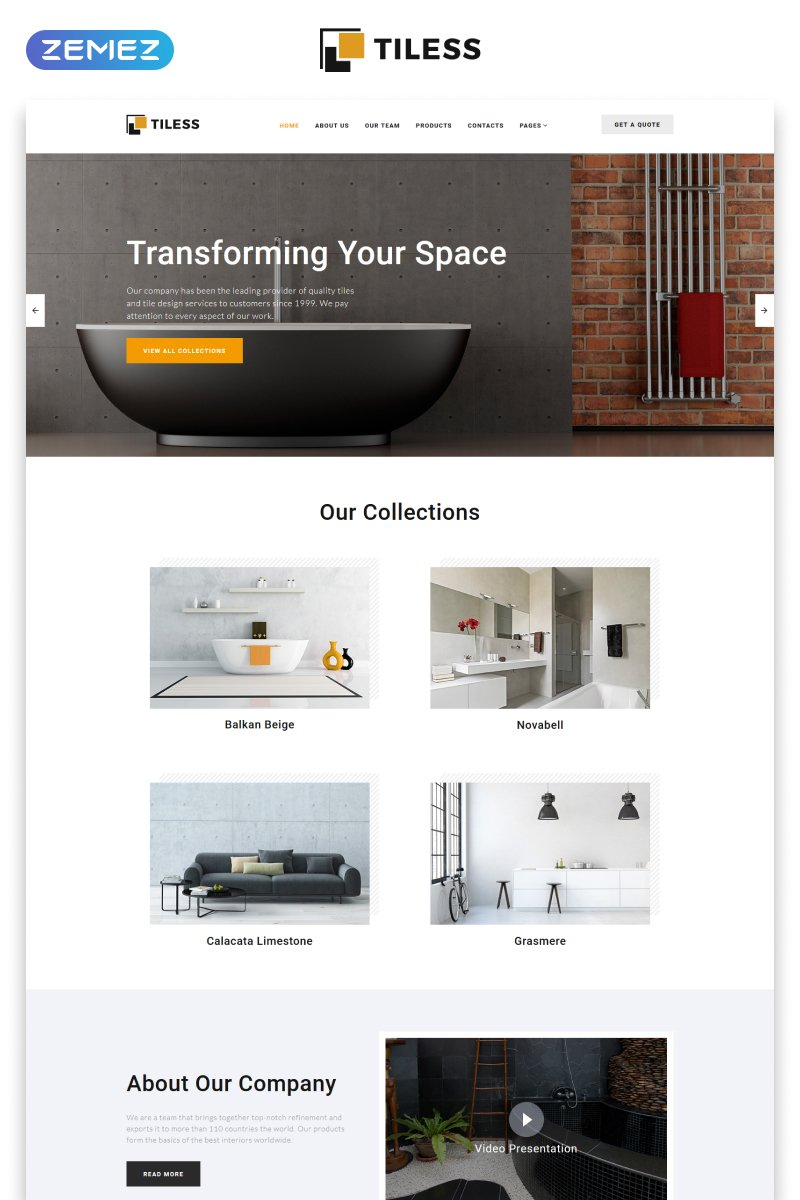 Reszponzív Tiless - Home Decor Multipage Creative HTML Weboldal sablon 55295