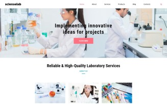 Scienselab - Science Lab Clean Joomla Template
