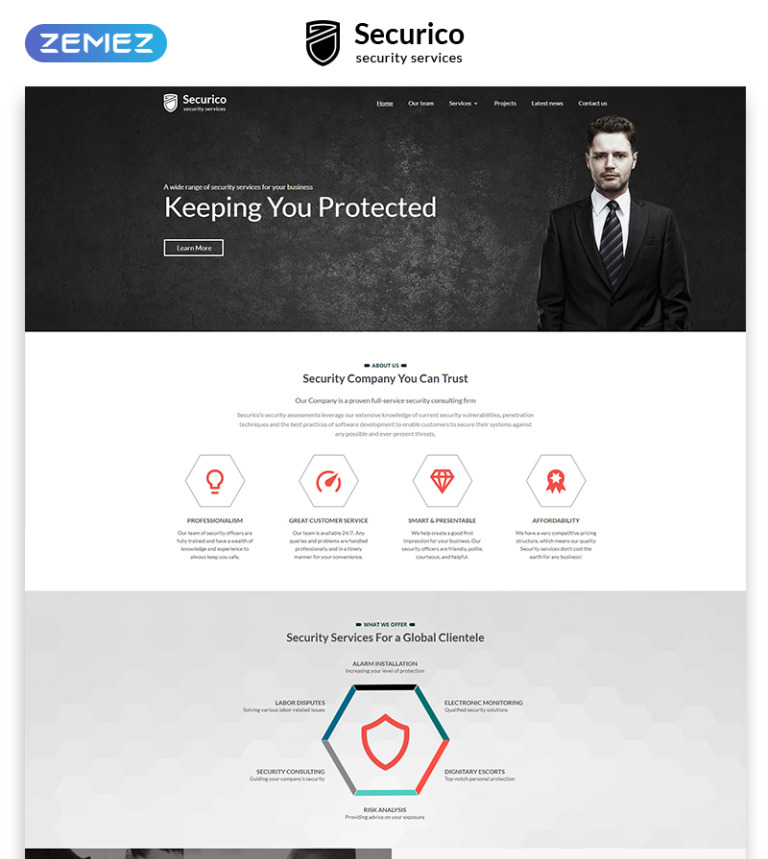 security company profile template.html