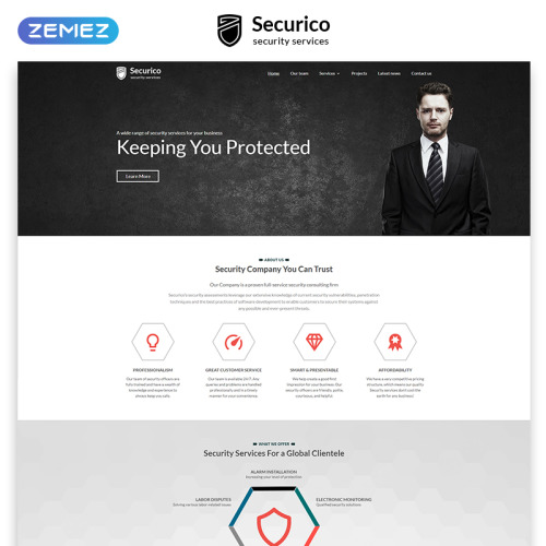 Securico - Responsive Website Template