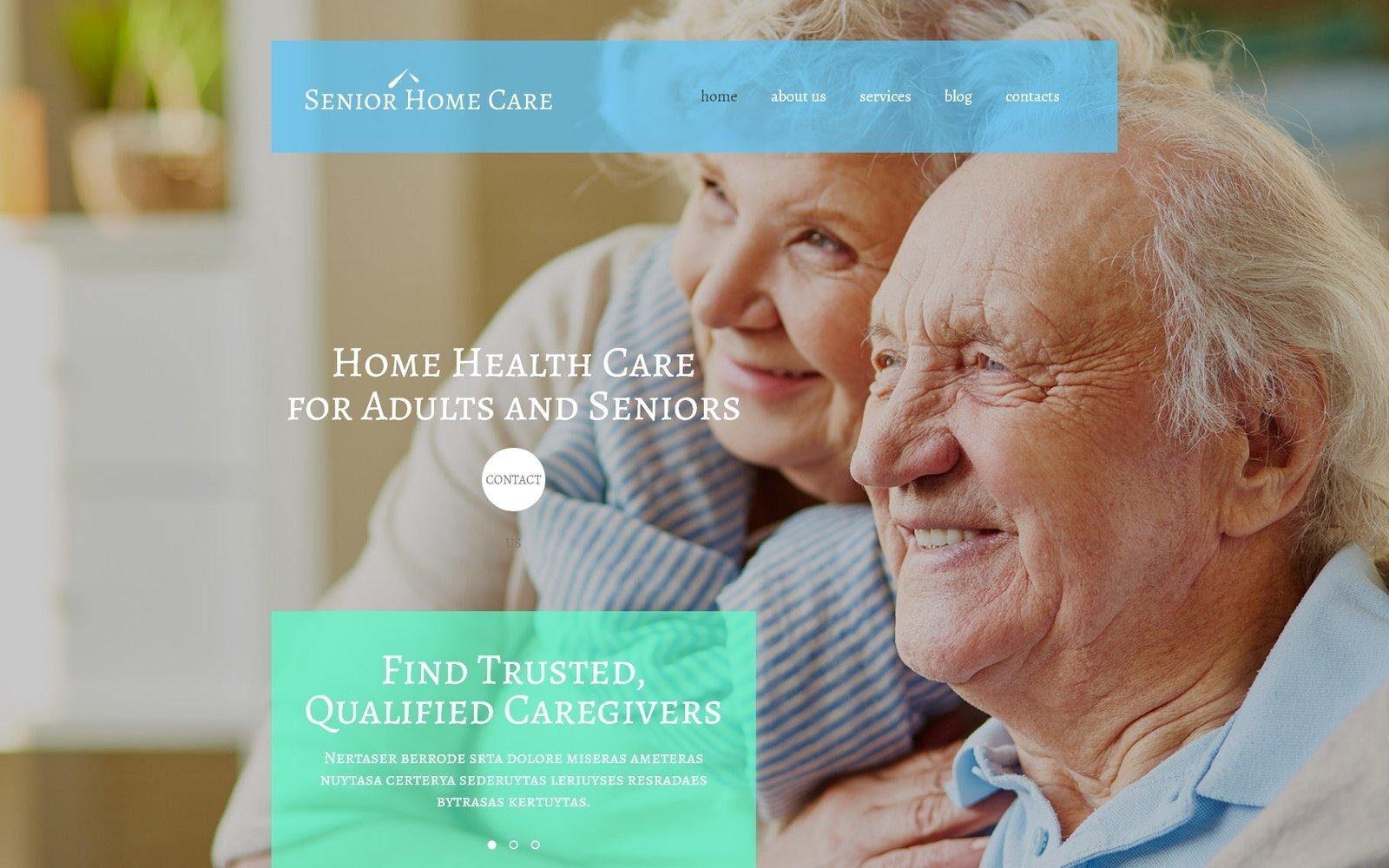 """Senior Home Care"" - адаптивний WordPress шаблон №55229"